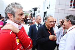 Maurizio Arrivabene, Team Principal, Ferrari, Sergio Marchionne, Chief Executive Officer, Fiat Chrysler and Chairman, Ferrari