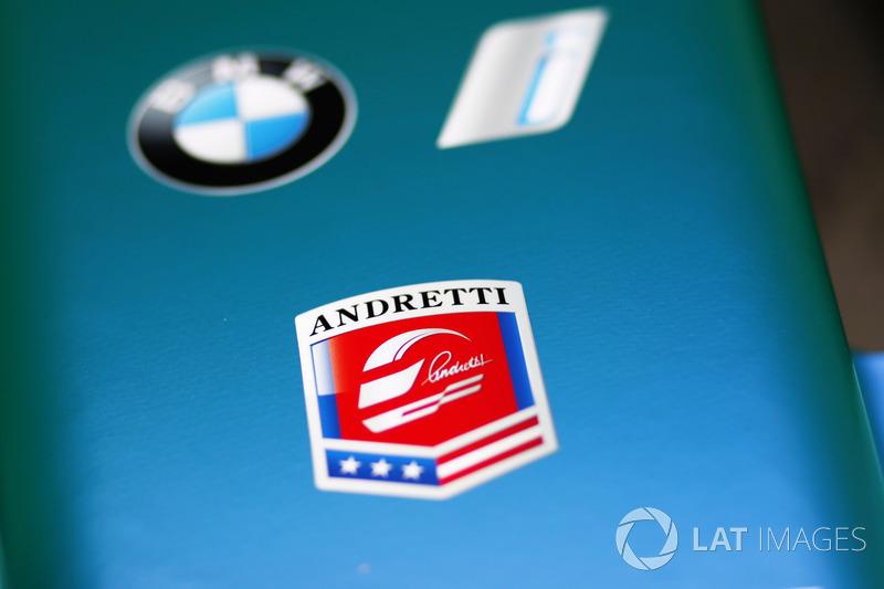 Andretti logo on the nose of the Andretti Formula E Team car