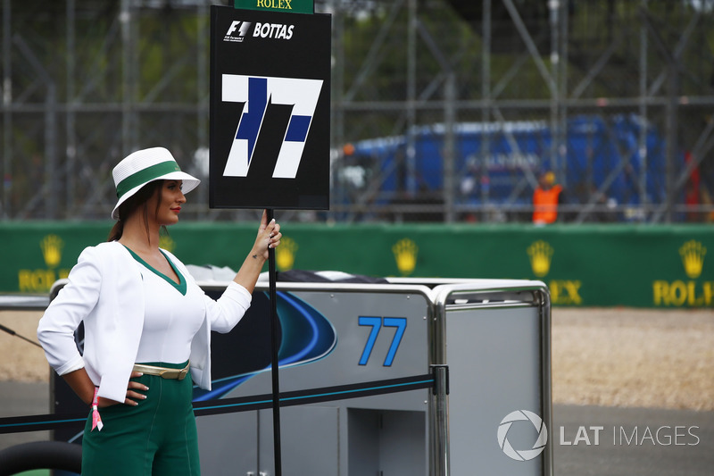Gridgirl für Valtteri Bottas, Mercedes AMG F1