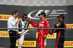 Podium: 1. Lewis Hamilton, Mercedes AMG F1; 2. Sebastian Vettel, Ferrari; 3. Daniel Ricciardo, Red Bull Racing