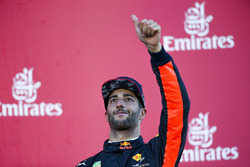 Third place Daniel Ricciardo, Red Bull Racing, on the podium