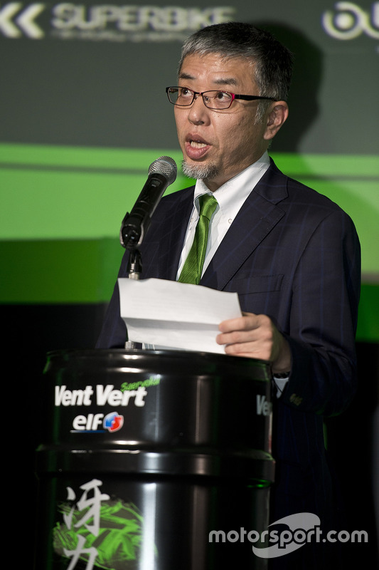 Ken Ondo, directeur général de la branche course de Kawasaki Heavy Industries