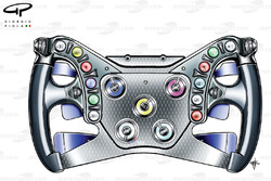 Red Bull RB7 steering wheel
