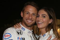 Jenson Button, McLaren, with his girlfriend Brittny Ward