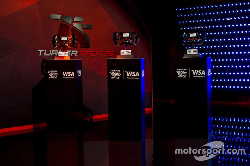 Trofeos en el escenario