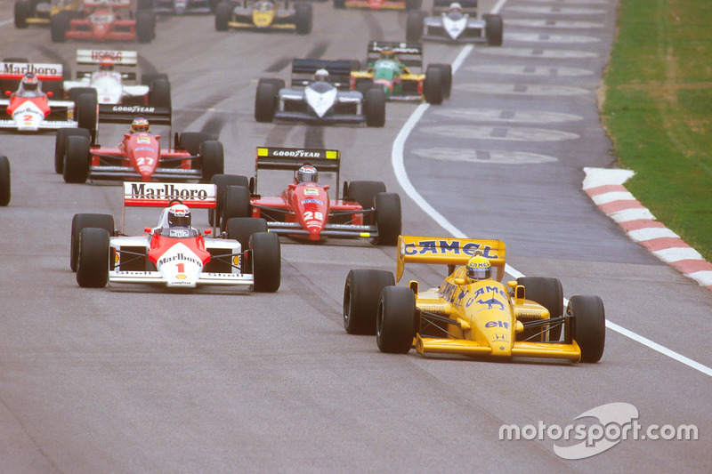 San Marino 1987: Ayrton Senna, Lotus 99T