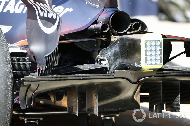 Red Bull Racing RB13: Diffusor