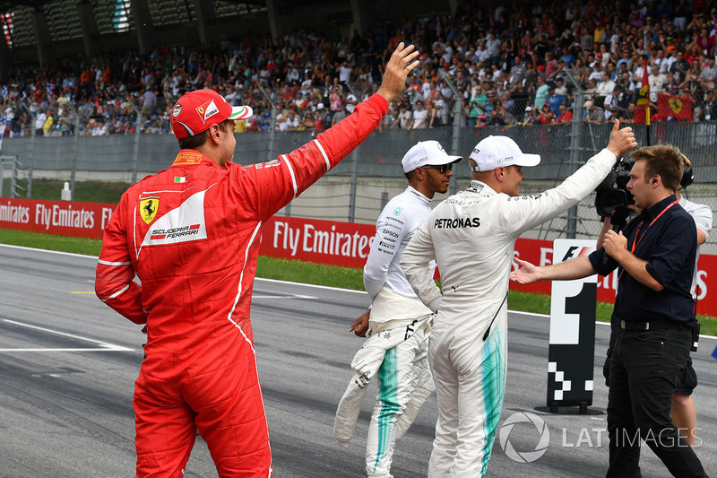 Sebastian Vettel, Ferrari, Lewis Hamilton, Mercedes AMG F1, Valtteri Bottas, Mercedes AMG F1, Davide