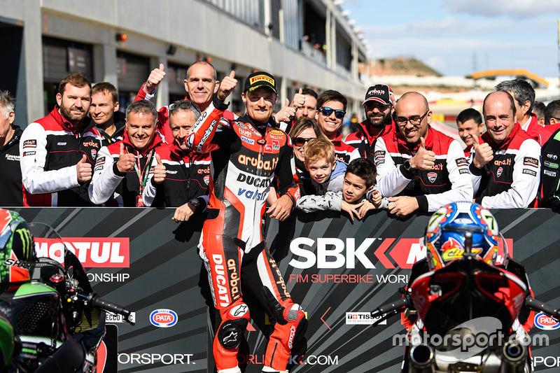 Polesitter: Chaz Davies, Ducati Team