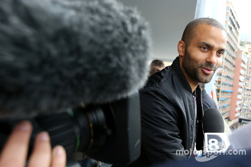 Tony Parker, guest of Renault Sport F1 Team