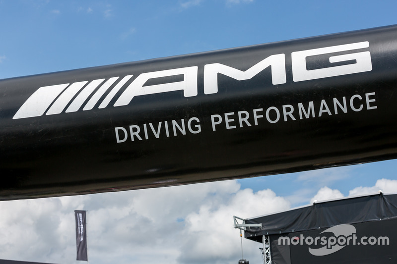 AMG sign in the paddock