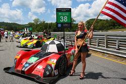 Grid girl of #38 Performance Tech Motorsports ORECA FLM09: James French, Kyle Marcelli