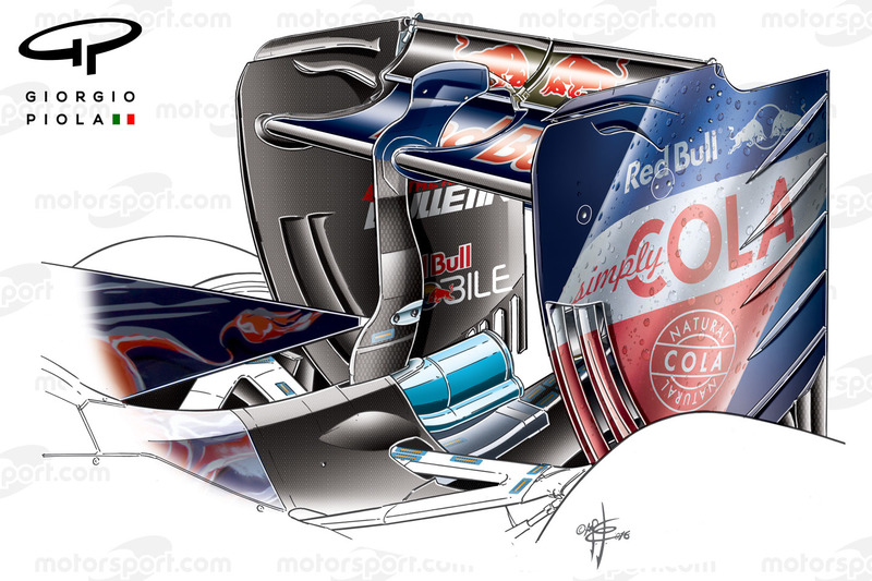 Toro Rosso STR11 rear wing, Shanghai