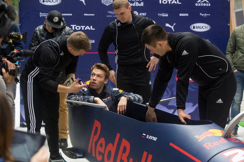 Daniil Kvyat, Red Bull Racing with Alexey Zaytsev, Alexey Pushkarev and Alexander Kasyanov