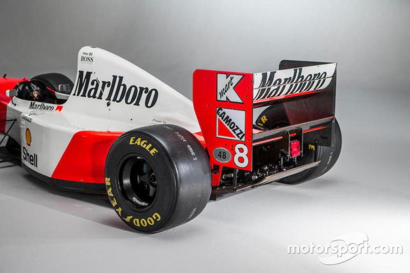 La McLaren-Cosworth Ford MP4/8A d'Ayrton Senna