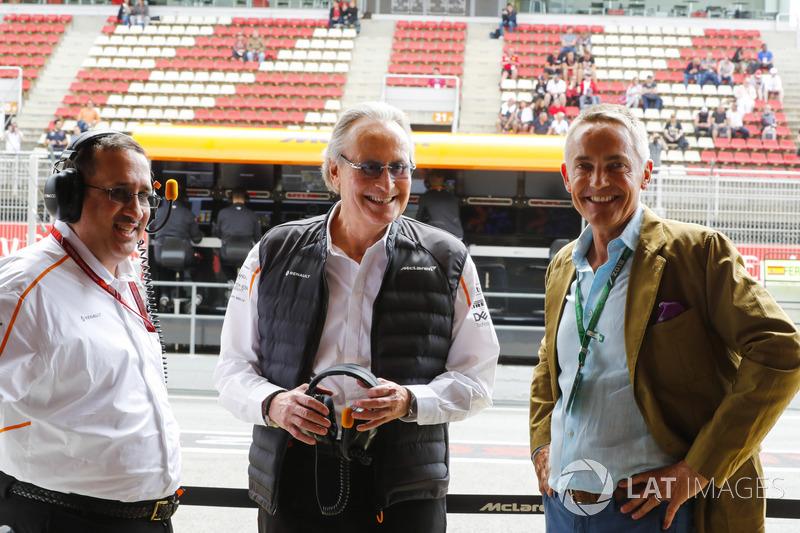 Martin Whitmarsh bersama Mansour Ojjeh, co-owner McLaren