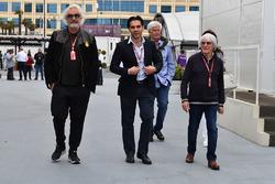 Flavio Briatore, Arif Rahimov, Baku Street Circuit Promoter and Bernie Ecclestone