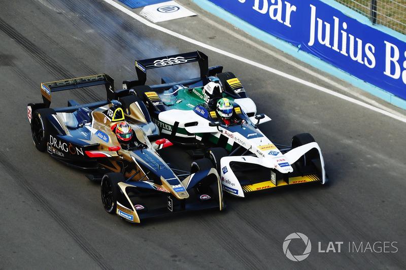 Jean-Eric Vergne, Techeetah, battles with Lucas di Grassi, Audi Sport ABT Schaeffler