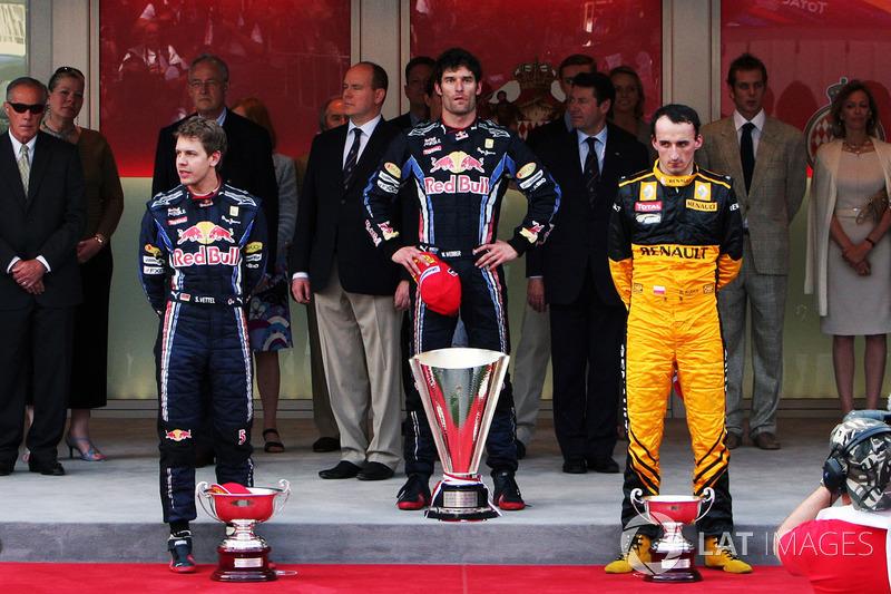 2010: 1. Mark Webber, 2. Sebastian Vettel, 3. Robert Kubica