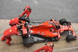La Ferrari SF71H de Sebastian Vettel
