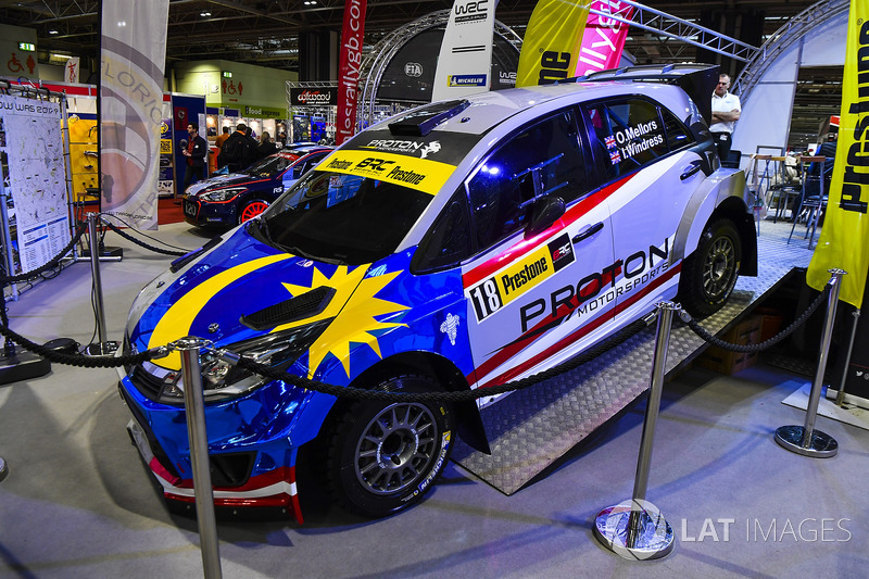 A Proton rally car on display