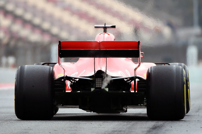 Ferrari SF71H, вид сзади