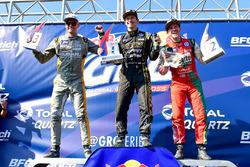 Podium: ganador, Tanner Foust, Volkswagen, segundo, Scott Speed, Volkswagen, tercero, Patrik Sandell, Ford