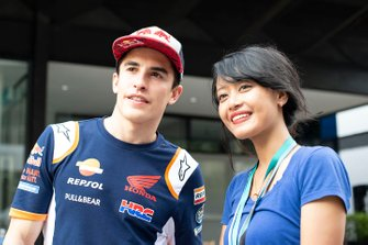 Marc Marquez, Repsol Honda Team with a fan