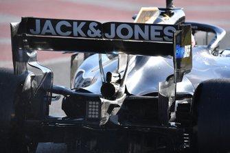 L'arrière de la voiture de Romain Grosjean, Haas F1 Team VF-19