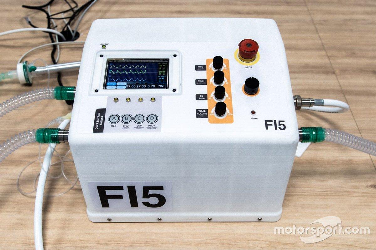 Formula One develop life-saving breathing aids
