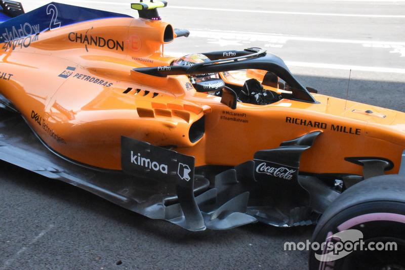 Detalle lateral del McLaren MCL33