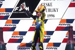 Podium: winner Valentino Rossi