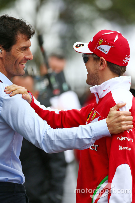 Mark Webber, Porsche Team WEC en Sebastian Vettel, Ferrari