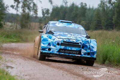 Tests sur terre de la Ford Fiesta WRC 2017