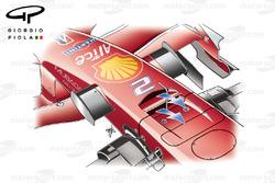 Loch in der Frontnase, Ferrari F2008