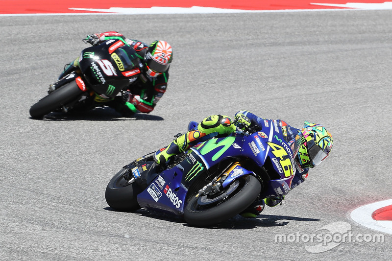 Valentino Rossi y Johann Zarco