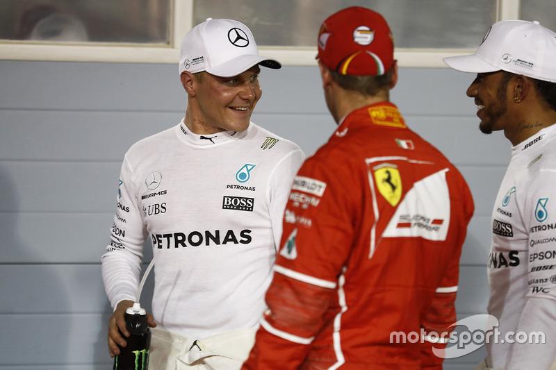 Polesitter: Valtteri Bottas, Mercedes AMG, second place Lewis Hamilton, Mercedes AMG, third place Se