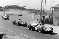 Jack Brabham, Cooper T53, Dan Gurney, BRM P48, John Surtees, Lotus 18, Stirling Moss, Lotus 18