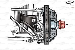 Ferrari F1-2000 front brake assembly