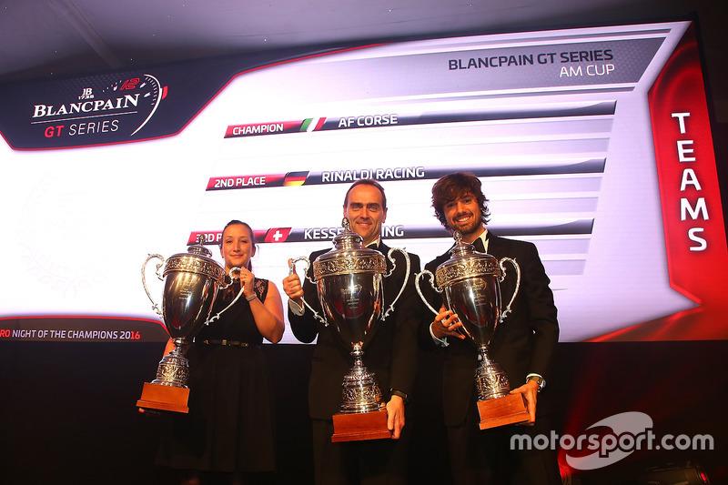 2016 AM Copa de equipos, AF Corse, champion, Rinaldi Racing, segundo lugar, Kessel Racing, tercer lugar