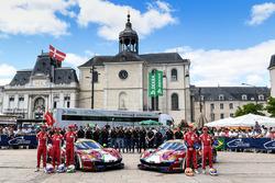 #51 AF Corse Ferrari 488 GTE: James Calado, Alessandro Pier Guidi, Michele Rugolo, #71 AF Corse Ferr