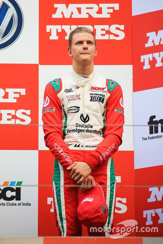 Podium : le troisième Mick Schumacher