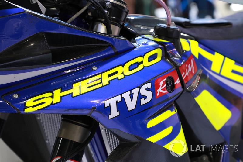Sherco TVS Rally Factory bike detail
