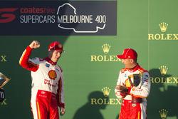 Podium: Race winner Scott McLaughlin, DJR Team Penske Ford, third place Fabian Coulthard, DJR Team Penske Ford