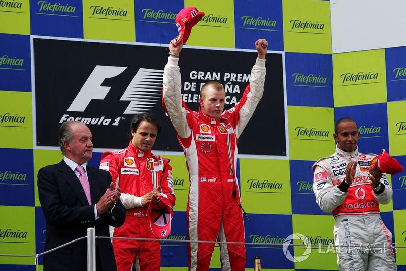 2008: 1. Kimi Räikkönen, 2. Felipe Massa, 3. Lewis Hamilton
