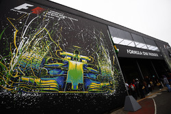 Artwork at the entrance to the Paddock