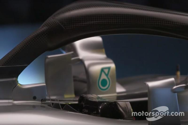 Halo van de Mercedes AMG F1 W09