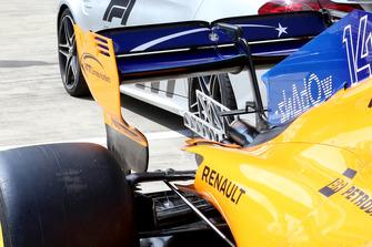 L'aileron arrière de la McLaren MCL33