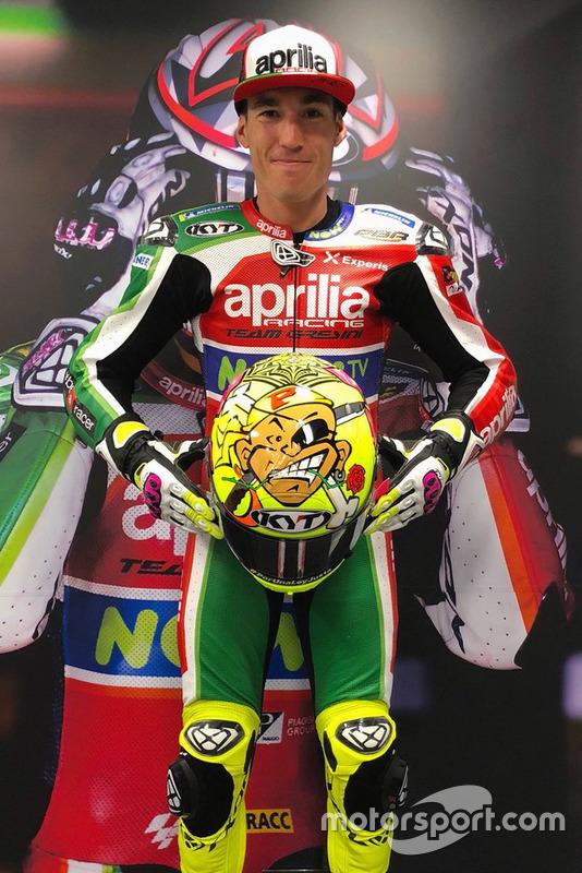 Il casco di Aleix Espargaro, Aprilia Racing Team Gresini