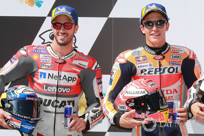 Pole sitter Marc Marquez, Repsol Honda Team, second place Andrea Dovizioso, Ducati Team